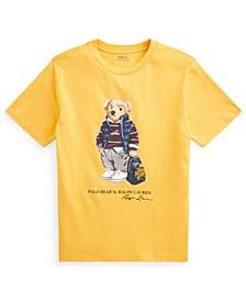 Little Boys Rugby Bear Jersey T-shirt