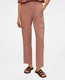 MANGO Women's Modal Cargo Trousers