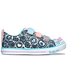 Little Girls Twinkle Toes Twinkle Lite - Hearts Stay-Put Closure Casual Sneakers from Finish Line