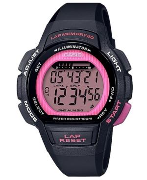 Women's Digital Black Resin Strap Watch 37.2mm