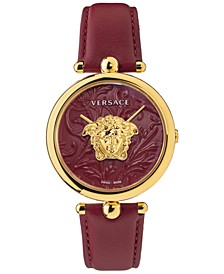 Women's Swiss Palazzo Empire Barocco Red Leather Strap Watch 39mm