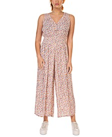 Smocked-Waist Culotte Printed Jumpsuit, in Regular & Petite
