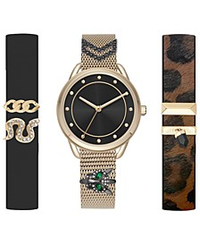 Women's Interchangeable Strap Watch 36mm Gift Set