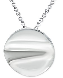 "Polished Disc 18"" Pendant Necklace in Sterling Silver, Created for Macy's"