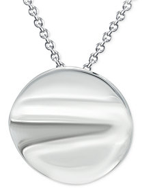 """Giani Bernini Polished Disc 18"""" Pendant Necklace in Sterling Silver, Created for Macy's"""