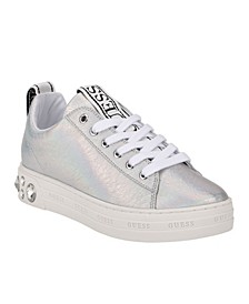 Women's Rivet Lace-up Sneakers