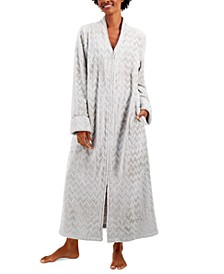 Long Chevron Zip Front Robe, Created for Macy's