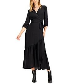 Jacquard Printed Wrap Maxi Dress, Created for Macy's