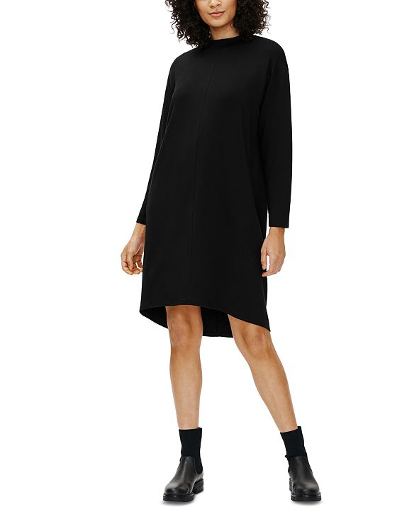 Eileen Fisher Funnel-Neck Dress