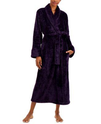 Plush Zigzag Long Cozy Wrap Robe, Created for Macy's