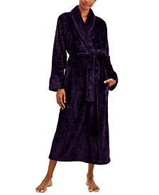 Plush Zigzag Long Cozy Wrap Robe, Created for Macy's