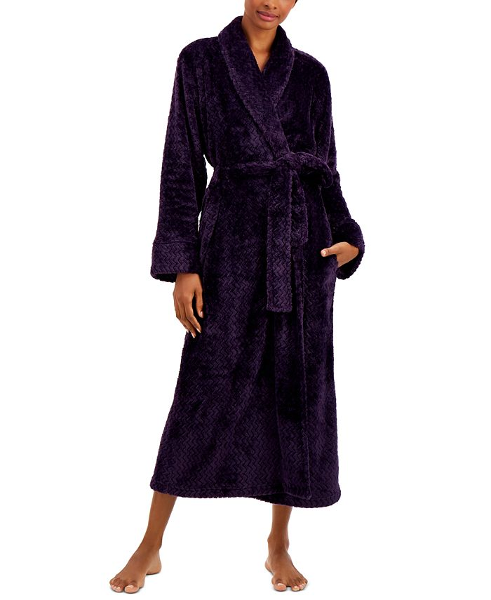 Charter Club - Plush Zigzag Long Wrap Robe
