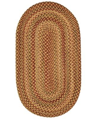 Area Rug, Homecoming Oval Braid 0048-100 Wheatfield 8' x 11'