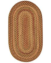 Capel Rugs, Homecoming Oval Braid 0048-100 Wheatfield