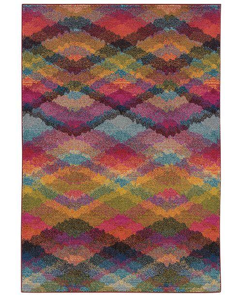 "Oriental Weavers Area Rug, Kaleidoscope 631X Neon Lights 6'7"" x 9'1"""