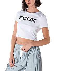 French Connection Cotton Cropped T-Shirt
