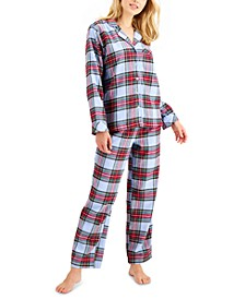 Matching Women's Tartan Family Pajama Set, Created for Macy's