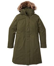 Women's Chelsea Hooded Faux-Fur-Trim Coat