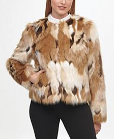 Women's Multi Pieced Faux Fur Coat