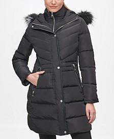 Women's Faux Fur Hooded Puffer Coat