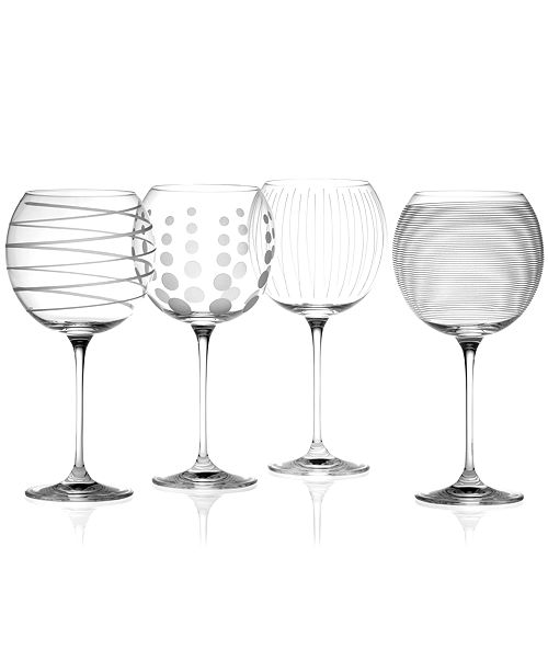 """Mikasa """"Clear Cheers"""" Balloon Goblets, Set Of 4"""