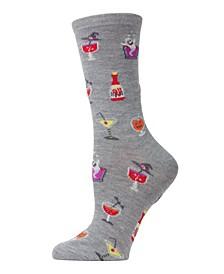 Women's Mixed Drink Halloween Crew Socks