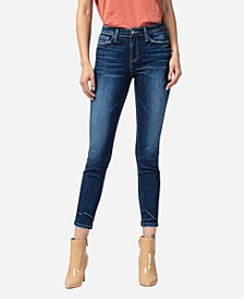 Women's Mid Rise Skinny Ankle with Tacking Jeans