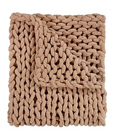 "Chenille Knitted Throw, 40"" L X 50"" W"