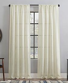 "Basket weave Dust Resistant Semi-Sheer Curtain Panel, 50"" x 96"""