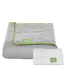 Weighted Blanket 15lb with Cotton Cover for Better Sleep, Queen