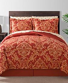 Golden Damask 8-Pc. Reversible Full Comforter Set