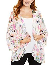 Open-Front Draped Kimono