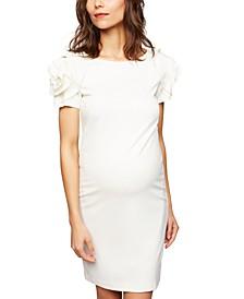 Maternity Ruffled Shift Dress