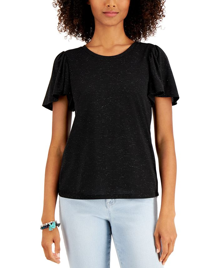 Style & Co - Angelina Flutter-Sleeve Top