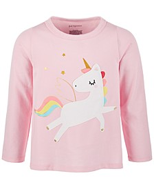 Baby Girls Rainbow Unicorn Long-Sleeve Cotton T-Shirt, Created for Macy's