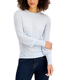 Mixed-Stitch Pointelle Sweater, Created for Macy's