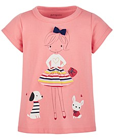 Baby Girls Cotton Lovestruck Girl T-Shirt, Created for Macy's