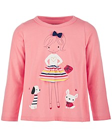 Baby Girls Friends Long-Sleeve Cotton Top, Created for Macy's
