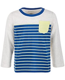Toddler Boys Stripe Pieced Pocket Long-Sleeve T-Shirt, Created for Macy's