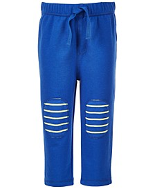 Toddler Boys Striped Knee Patch Pants, Created for Macy's