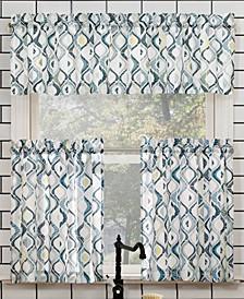 "Barker Rod Pocket Kitchen Curtain Valance And Tiers Set, 54"" x 24"""