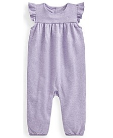 Ralph Lauren Baby Girls Flutter-Sleeve Terry Overall