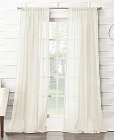 "Silvia Semi-Sheer Rod Pocket Curtain Panel, 50"" x 120"""