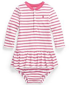 Ralph Lauren Baby Girls Striped Henley Dress and Bloomer