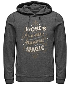 Men's Deathly Hallows 2 Humble Words Fleece Pullover Hoodie