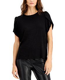Michael Michael Kors Plus Size Petal-Sleeve Top
