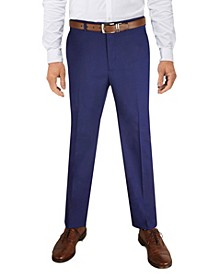Men's Classic-Fit Stretch Solid Suit Pant, Created for Macy's