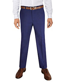 Alfani Men's Classic-Fit Stretch Solid Suit Pant, Created for Macy's