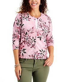 Petite Printed Cardigan, Created  for Macy's