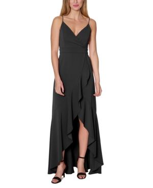 Ruffled Scuba Gown